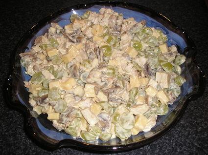 Recette de salade de poulet et champignons