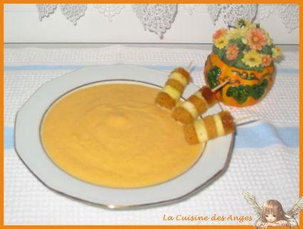 Recette de velouté de potiron à la vanille et mini brochettes
