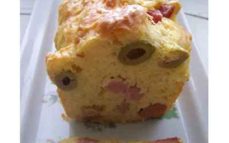 Recette cake d'été, jambon et olives économique et simple ...