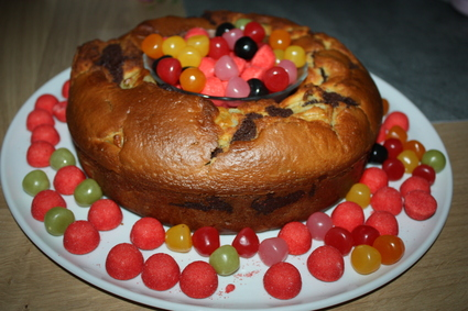 Recette de gâteau marbré chocolat et poires
