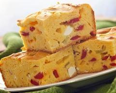 Recette cake poivron, olive et feta