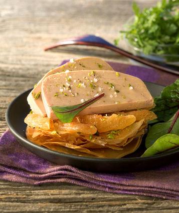 Recette de foie gras de canard fermier des landes en tarte fine