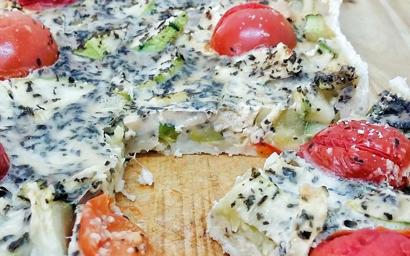 Recette tarte courgette menthe (sans lactose) pas chère et simple ...