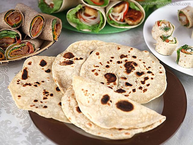 Tortillas de blé souples  recette de cuisine avec photos ...