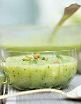 Soupe de concombre à la menthe pour 1 personne