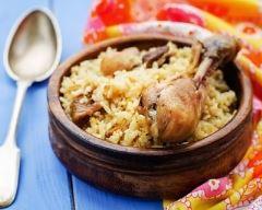 Recette riz pilaf au poulet, figues et raisins secs