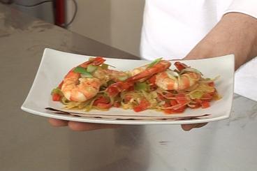 Recette de wok de gambas aux légumes croquants facile et rapide