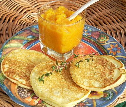 Recette de pancakes aux pommes de terre et chutney de potiron