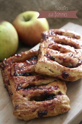 Recette de jalousies aux pommes et confiture d'abricot