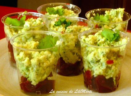 Recette verrines à la gelée de betteraves et mousse de chou-fleur ...