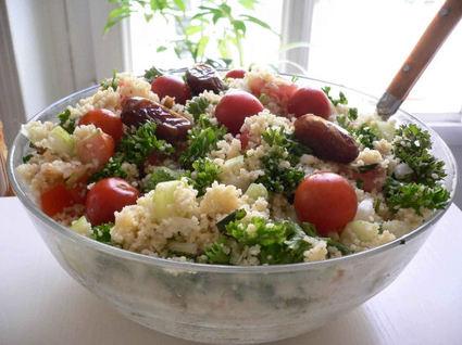 Recette de taboulé très frais aux dattes et aux tomates cerises