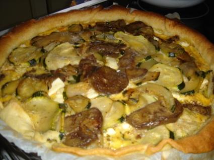 Recette de tarte courgettes, aubergine et feta