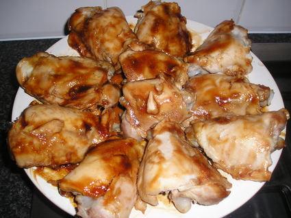 Recette de poulet mariné à la sauce soja et gingembre