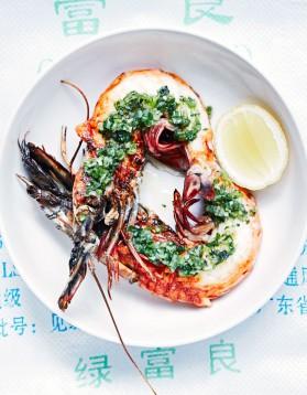 Crevettes grillées au gingembre et à l'ail pour 4 personnes ...