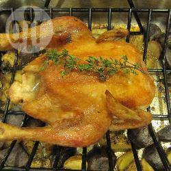 Recette poulet rôti au thym et aux pommes de terre – toutes les ...