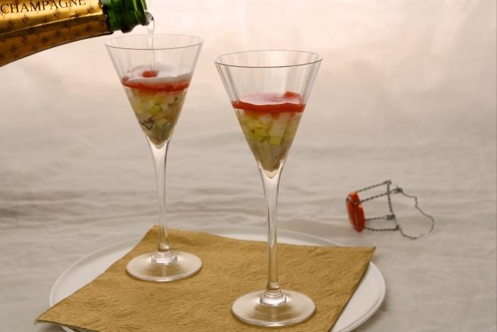Recette de shooter d'huîtres au champagne facile et rapide