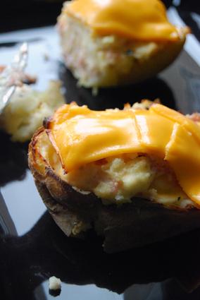 Recette de twice baked potatoes au bacon