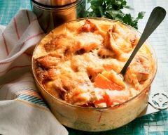Recette gratin de pommes de terre au saumon et reblochon