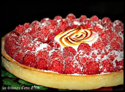 Recette de tarte aux framboises à la crème d'amande