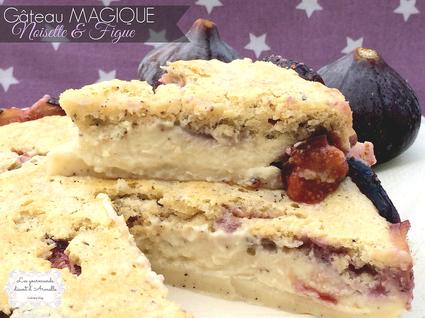 Recette de gâteau magique noisette et figue