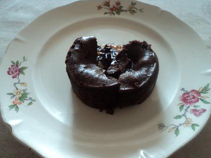 Recette de moelleux chocolat coeur coulant caramel noix