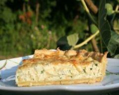 Recette tarte à la ricotta et aux oignons