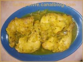 Poulet aux oignons et au gingembre pour 4 personnes