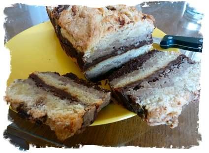 Recette de marbré d'automne choco-marrons-amandes
