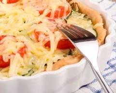 Recette tarte à la courgette et au fromage de chèvre