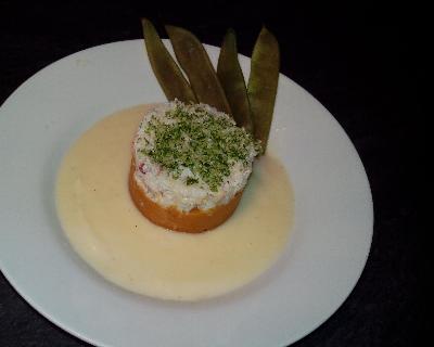 Recette pinces de tourteaux au citron vert, patates douces et crème ...