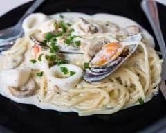Recette pâtes aux fruits de mer