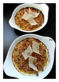 Recette de gratin d'oignons doux des cévennes aux châtaignes.