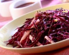 Recette salade de chou rouge marinée aux agrumes