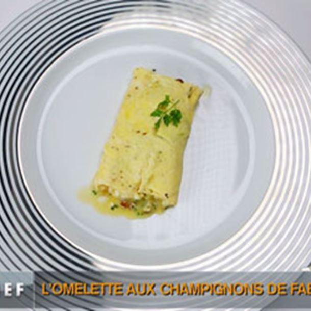 Recette omelette champignon-fromage