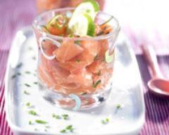 Recette saumon mariné au citron vert en verrine