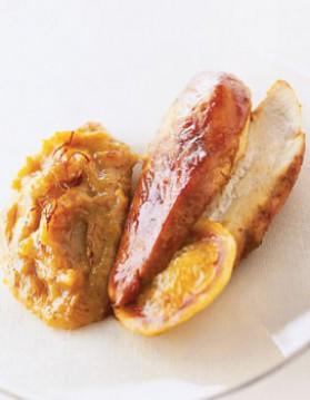 Poulet doré et bananes en purée safranée pour 4 personnes ...