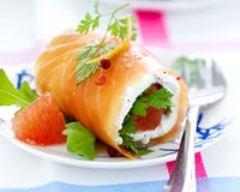 Recette ballotins de saumon au chèvre frais et pamplemousse