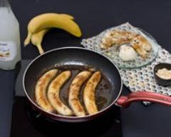 Recette bananes flambées, glace à la vanille