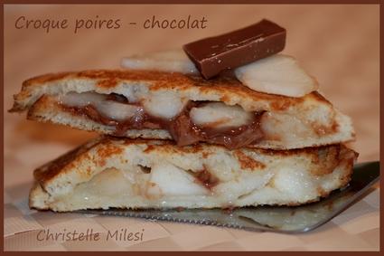 Recette de croque poires-chocolat