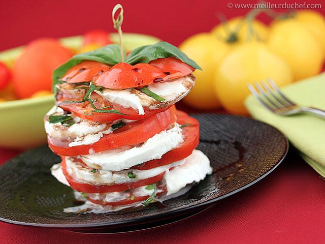 Tomate mozzarella  recette de cuisine illustrée  meilleurduchef.com