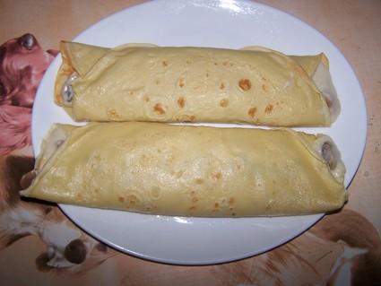 Recette de crêpe jambon-champignon, sauce béchamel