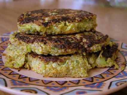 Recette de galettes printanières au quinoa