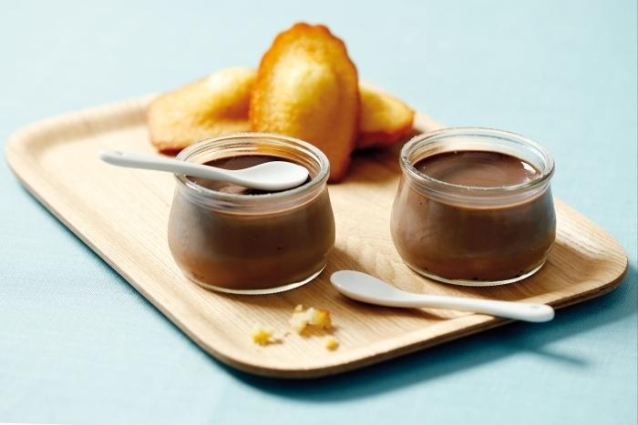 Recette de petits pots de crème au chocolat et madeleines au miel ...