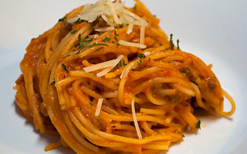 Recette spaghetti creamcheese pas chère et simple > cuisine ...