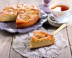 Recette gâteau aux pommes et caramel au beurre salé