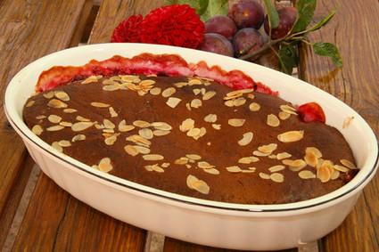 Recette de cobbler aux prunes et pain d'épices