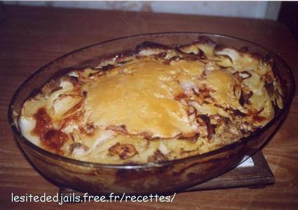Recette de tartiflette au chorizo et aux poivrons