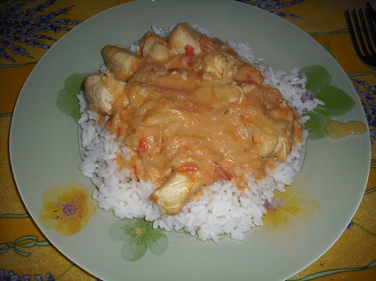 Recette de poulet coco à la tomate