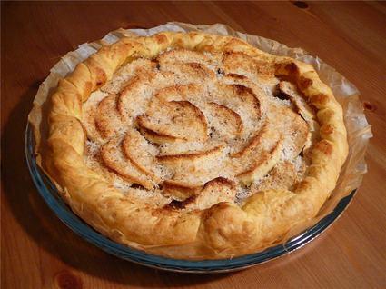 Recette de tarte pommes-bananes-coco