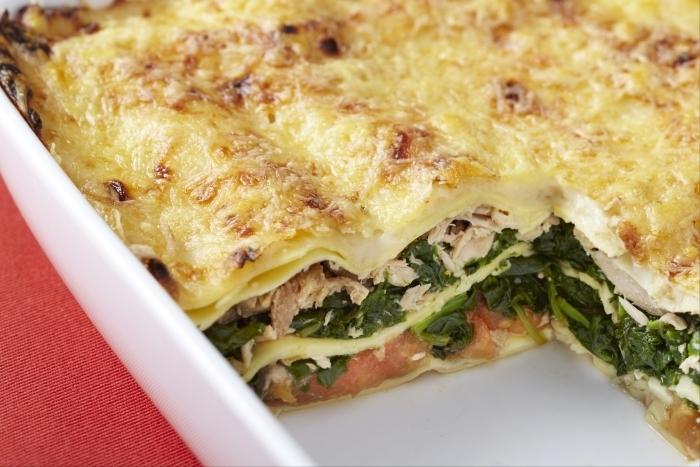 Recette de lasagne de thon et épinards facile